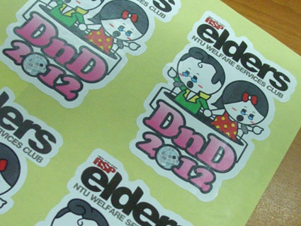 Our various sticker types